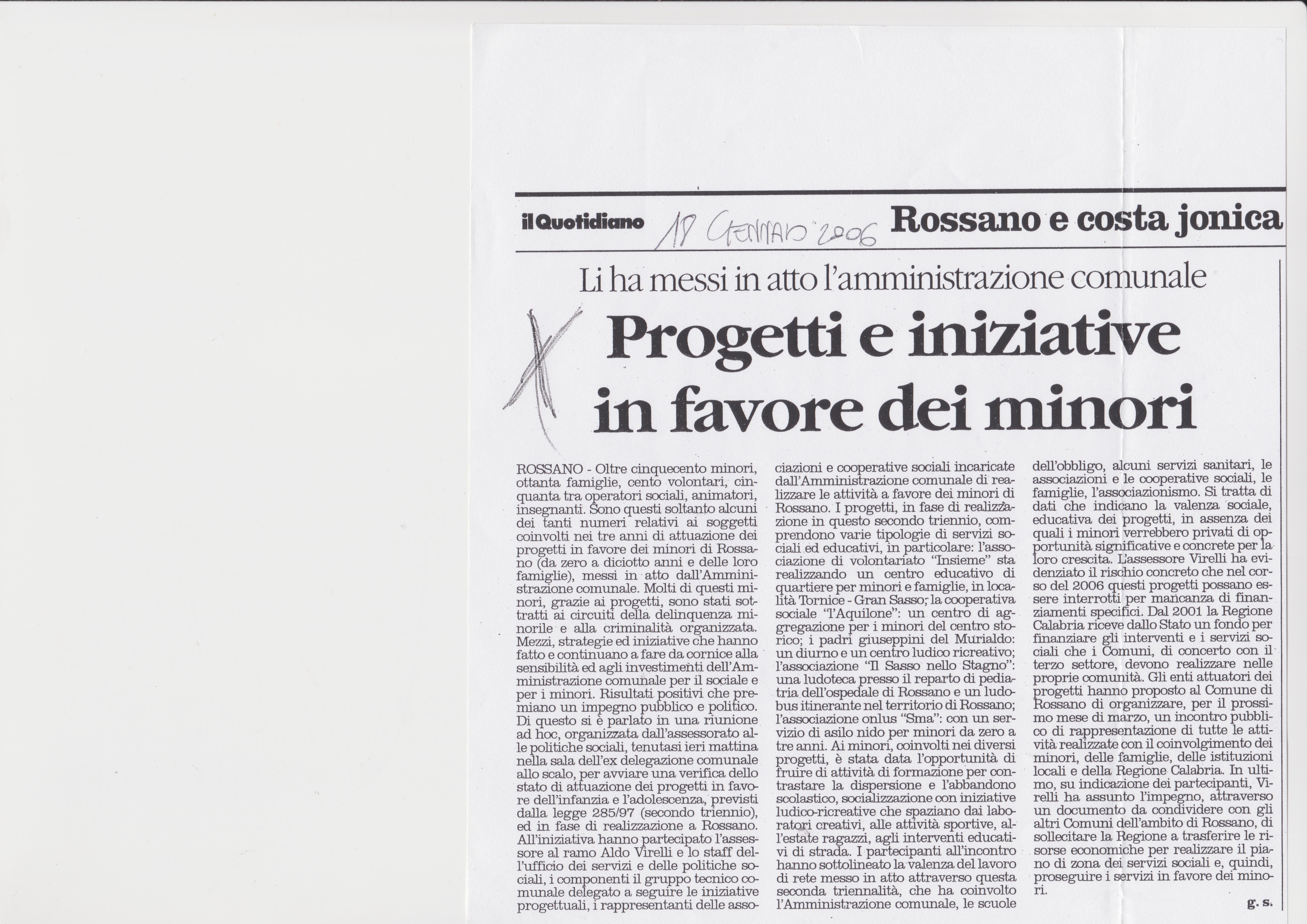 Il Quotidiano del 18 Gennaio 2006