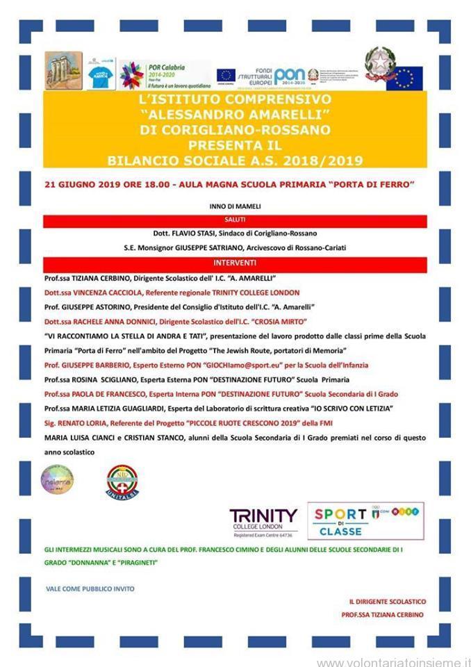 Bilancio sociale I.C. Amarelli a.s. 2018-2019